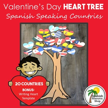Spanish Speaking Countries Valentines Day Heart Tree