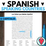 Spanish Speaking Countries WORD SEARCH | Los Paises Hispan