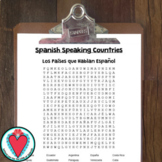 Spanish Speaking Countries - Word Search - Spanish Sub Pla