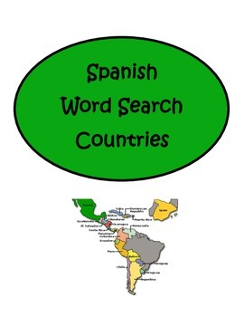 Spanish Speaking Countries Word Search Puzzle