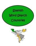 PRINT & DIGITAL Spanish Speaking Countries Word Search
