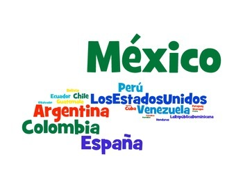 Spanish Speaking Countries Wordle