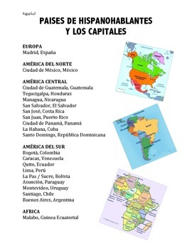 Spanish-Speaking Countries and Capitals