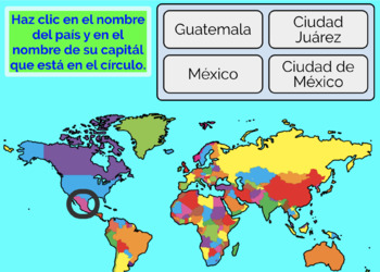 Spanish Speaking Countries and Capitals, Boom Cards, Type or Click ...
