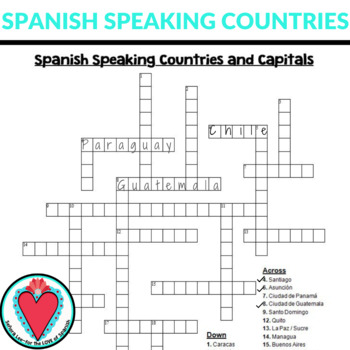 It is a photo of Printable Spanish Crossword Puzzle regarding teenager