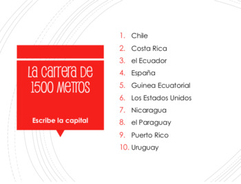 Spanish-Speaking Countries and Capitals Decathlon