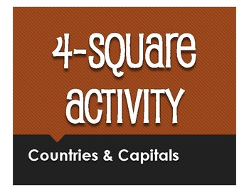 Spanish-Speaking Countries and Capitals Four Square Activity