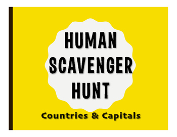 Spanish-Speaking Countries and Capitals Human Scavenger Hunt