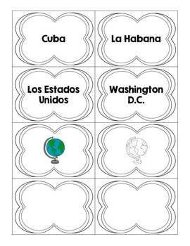 Spanish Speaking Countries and Capitals Matching Game