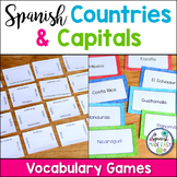 Spanish-Speaking Countries and Capitals Vocabulary Games