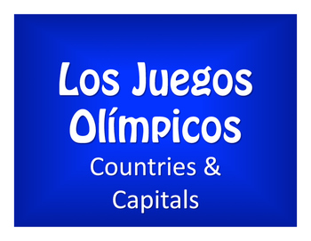 Spanish-Speaking Countries and Capitals Olympics