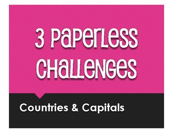 Spanish-Speaking Countries and Capitals Paperless Challenges