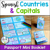 Spanish-Speaking Countries and Capitals Passport Mini Booklet