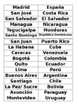 Spanish Speaking Countries and Capitals Puzzle Activity