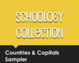 Spanish-Speaking Countries and Capitals Schoology Collection Sampler