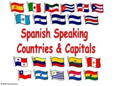Spanish Speaking Countries and Capitals Signs / PowerPoint