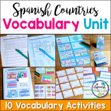 Spanish Countries and Capitals Vocabulary Bundle