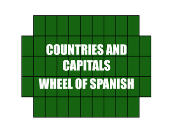 Spanish-Speaking Countries and Capitals Wheel of Spanish