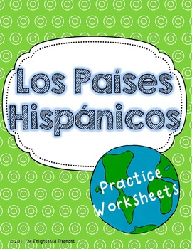 Spanish Speaking Countries and Capitals Worksheets