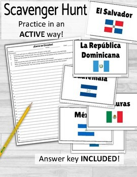 Spanish Speaking Countries and Flags ¡Corre en Círculos!