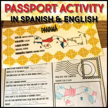 Spanish Speaking Countries and Regions Desk and Bulletin Board Labels