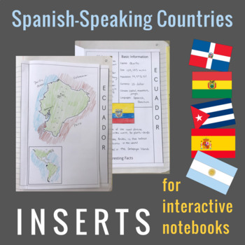Spanish-Speaking Countries for Interactive Notebooks