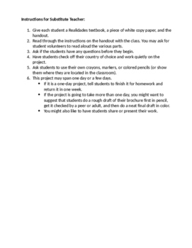 Substitute Plan - Country Brochure (Realidades 1)