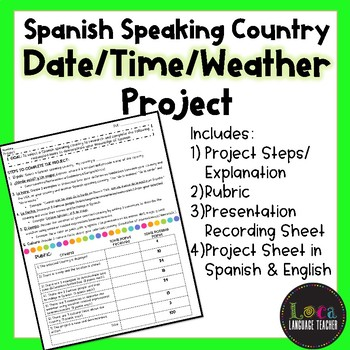 Spanish Speaking Country (Dates/Time/Weather) Project