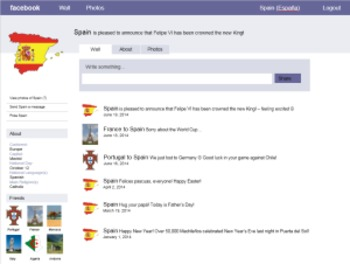 Spanish-Speaking Country Facebook-Type Info Pages (Project Bundle)
