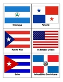 Spanish Speaking Country Flag Flash Cards