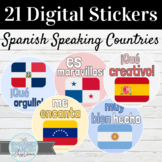 Spanish Speaking Countries Flags Digital Stickers