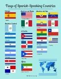Spanish-Speaking Country Flags Infographics