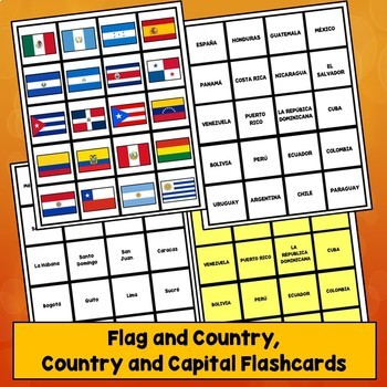 Spanish Speaking Countries Flashcards, Hispanic Countries Flashcards