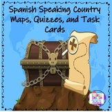 Spanish Speaking Country Maps, Quizzes, and Task Cards