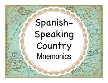 Spanish Culture:  Spanish-Speaking Country Mnemonics