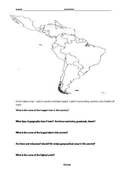 Spanish Speaking Country Webquest