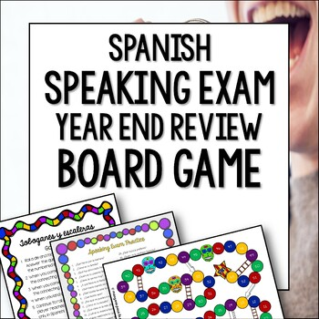 Spanish Speaking Final Exam Review Game and Practice - Tob