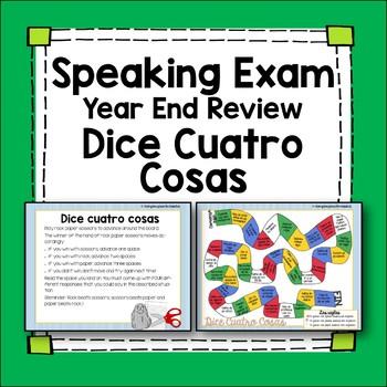 Spanish Speaking Game - Dice 4 Cosas