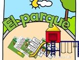 Spanish Interactive Storybook: The Park / El parque, librito interactivo