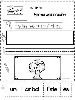 Spanish Speaking Cut and paste Oraciones Revueltas