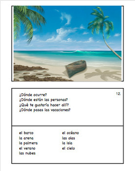 36 Spanish Speaking Picture Prompts: Present Tense (36 cards)