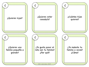 Spanish Speaking Prompts - Familia (Family)