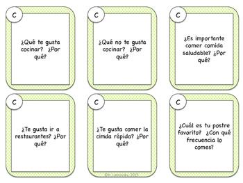 Spanish Speaking Prompts - Food (La Comida)