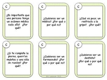 Spanish Speaking Prompts - Illness & Injury (Enfermedades)