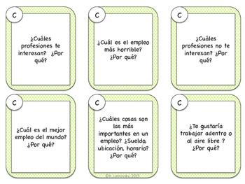 Spanish Speaking Prompts - Jobs & Professions