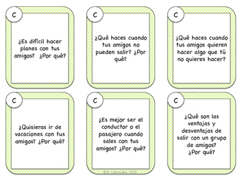 Spanish Speaking Prompts - Making Plans