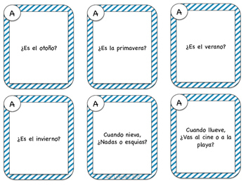 Spanish Speaking Prompts - Weather (El Tiempo)