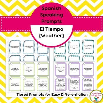 Spanish Speaking Prompts - Weather (El Tiempo)