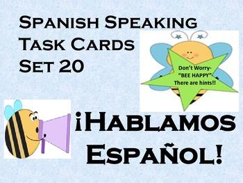 Spanish Speaking Task Cards-set of 20