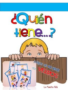 Spanish Speaking Verb Game / Yo tengo ¿Quién tiene? Juego de  88 tarjetas
